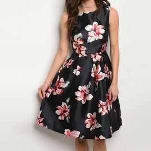 Dresses & Skirts - Chiffon Floral Print A Line Dress